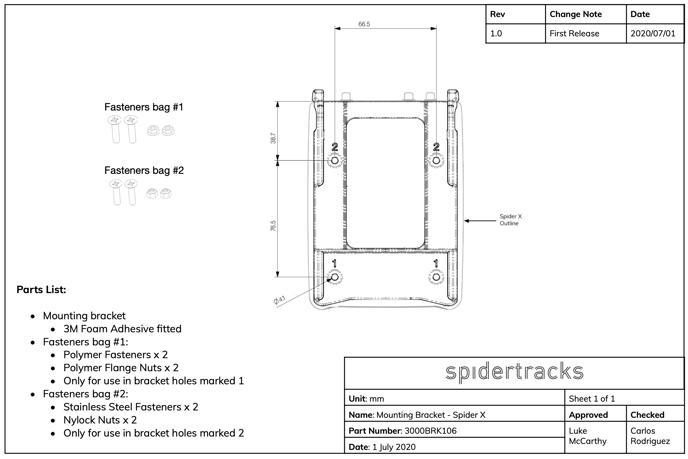 Spider X Bracket